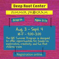 News release: Deep Root Center Summer Programs