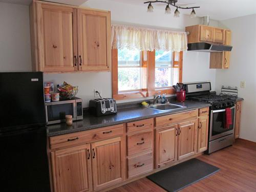 Guest House B&B fully equipped kitchen.