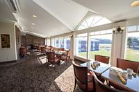Dine in our restaurant with the spectacular view of our golf course.