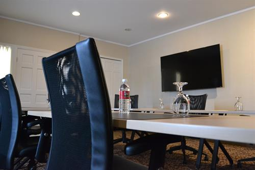 Our Boardroom is always ready for that last minute meeting.