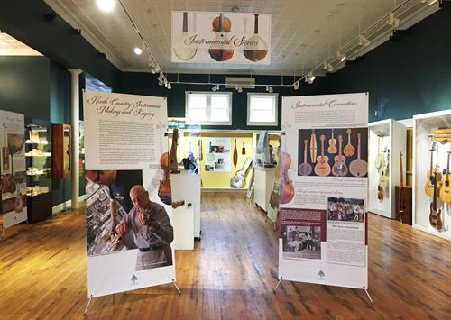 "The ""Instrumental Stories"" exhibit features new and heirloom instruments made and/or used in Northern New York; the people who make and keep them; and how they connect people to their heritage, to living regional traditions, and to each other. On view through October 27 2018."