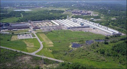 Aerial view of Alcoa Massena Operations potrooms