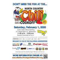 Annual North Country Chili Cook-Off  Returns Feb. 1 to Celebrate its 21st Year