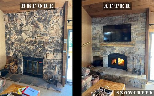 Fireplace Remodel _ Example 1