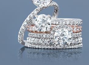 Custom Engagement and Wedding Bands