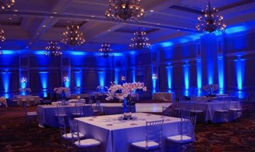 Uplighting give a dramatic hue of any color to your venue