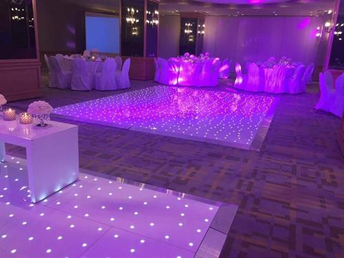 The only local company with an LED lit dance floor
