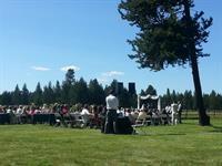 Small outdoor summer wedding