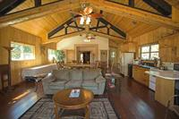 """Homestead Upstairs """"Treetop Suite"""" can be an event center with kitchen and seating for 30."""