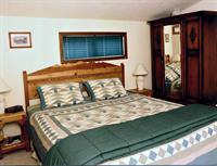 B&B Upstairs King apartment opens to private sitting room with great view, table & chairs, fridge, microwave, and sleeper sofa for extra bed if needed. Huge deck for stargazing.