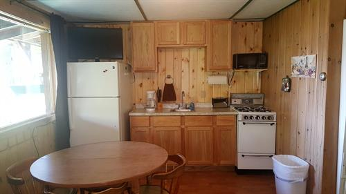 Renovated kitchen in cabin 3