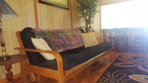 Living room area in cabin 2