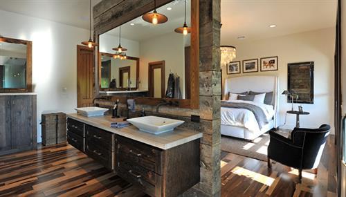 Woodland Rustic Master Bath