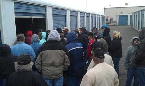 Storage Auction Crowd