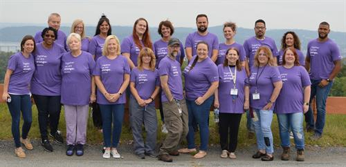 The Ranch PA Staff in their National Recovery Month t-shirts!