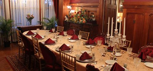 Formal Dining Room Event Set Up