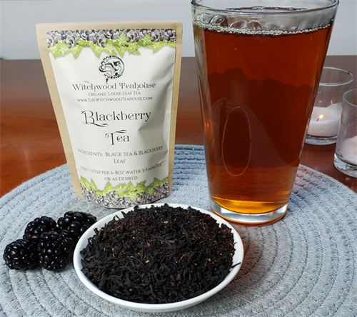 Blackberry tea with blackberry leaf