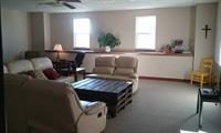 living-room area for men's discipleship program