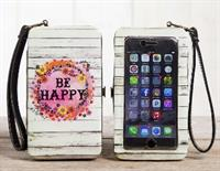 Be Happy Phone Wristlet