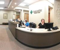 The newly remodeled clinic reception area in Hoisington