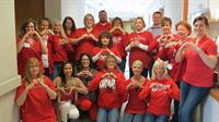 Employees Go Red for Heart Health