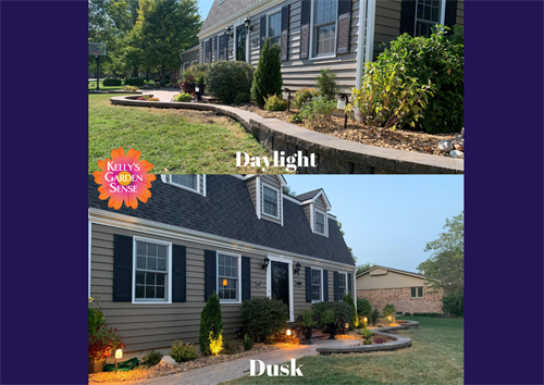 Before and After Landscape Design and Lighting