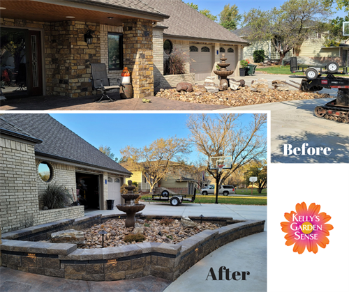 Before and After Landscape Design and Water Feature