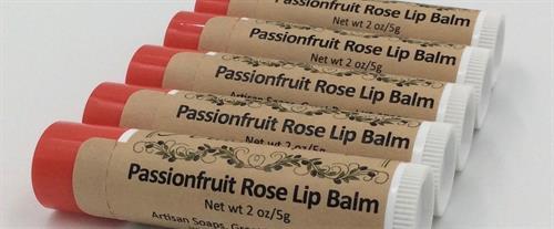 sPassionfruit Rose Lip Balms