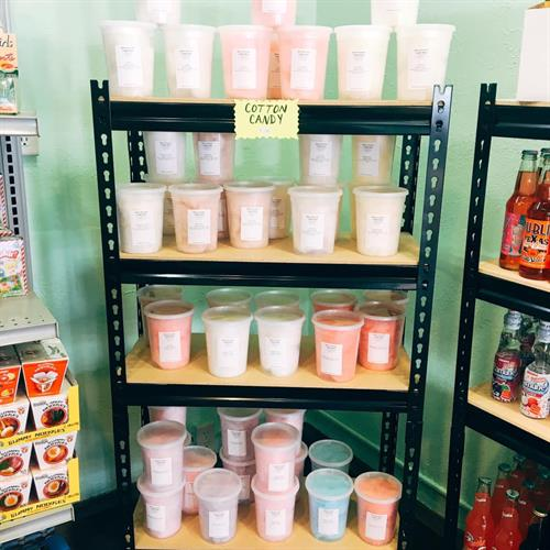 15 Different flavors of cotton candy