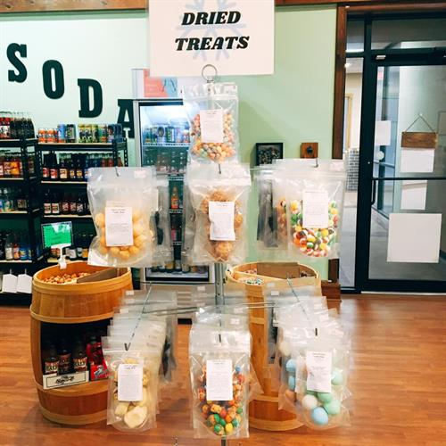 Freeze dried candy and treats