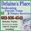 Delaine's Tax, Bookkeeping and Payroll Specialists