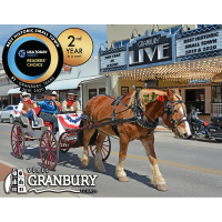 """Back-to-Back"" Win! City of Granbury, Texas Named Best Historic Small Town in America for second year in a row!"