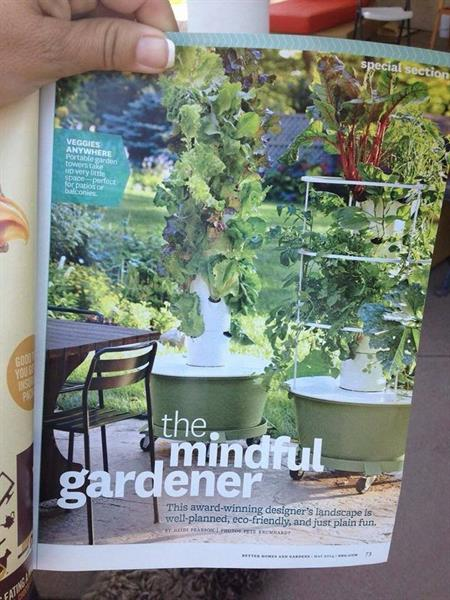 Tower Garden in the Better Home & Gardening _ MAY 2014