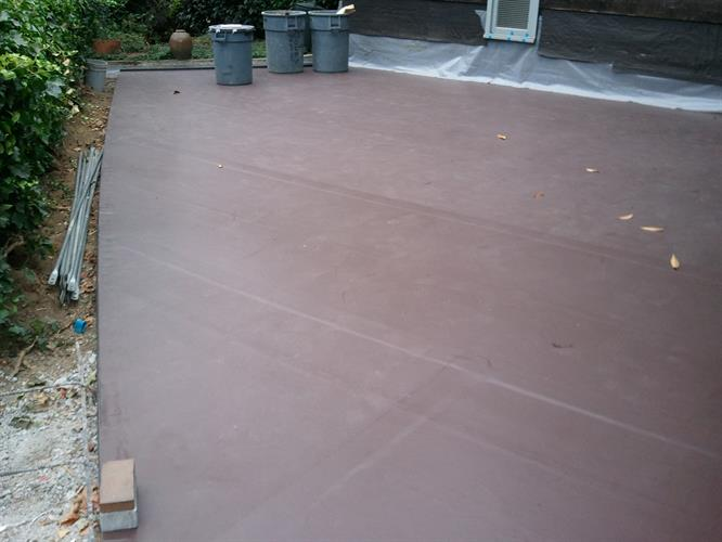 membrane waterproofing before the top deck