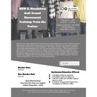 NEW IL Mandatory Anti-Sexual Harassment Training: Train the Trainer For