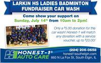 Larkin Ladies Badminton Car Wash Fundraiser