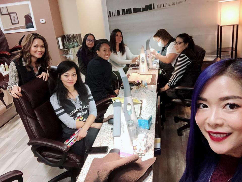 Nail Salon Staff and Customers