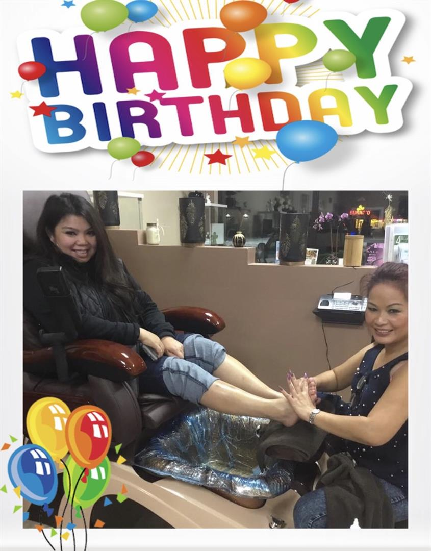Nail Salon B-day Nail Party!!!
