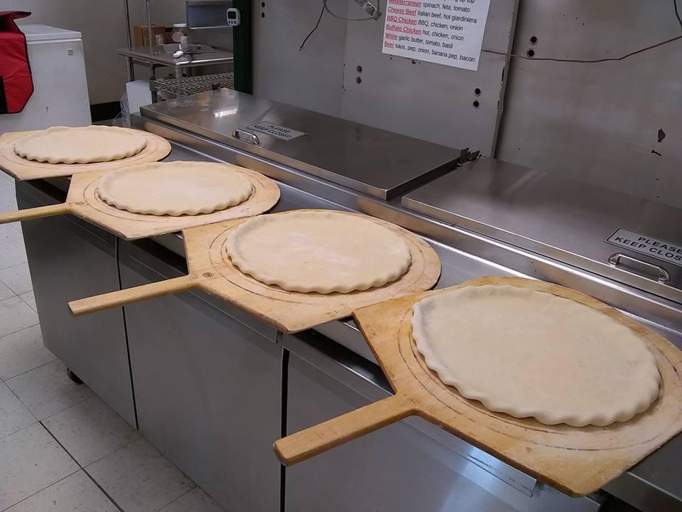 Making double dough pizzas