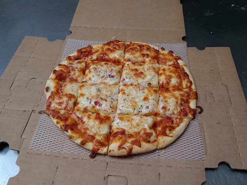 Thin crust cheese