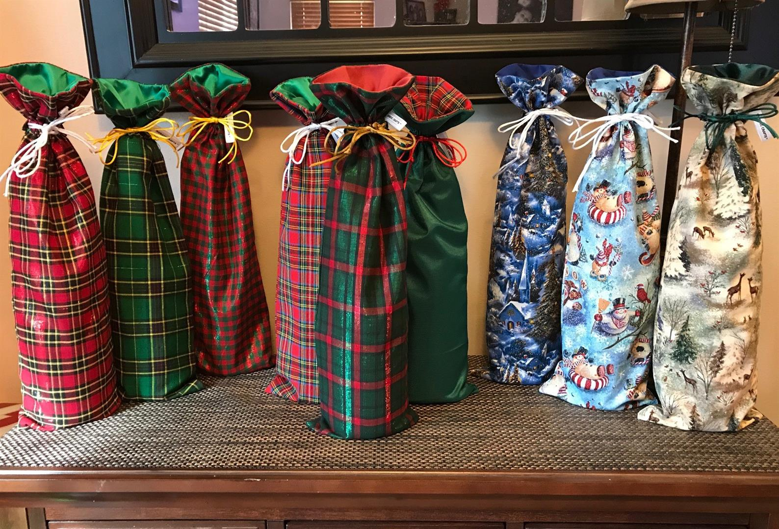 Holiday Wine Bottle Bags