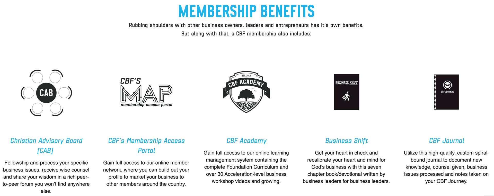 CBF Member Benefits