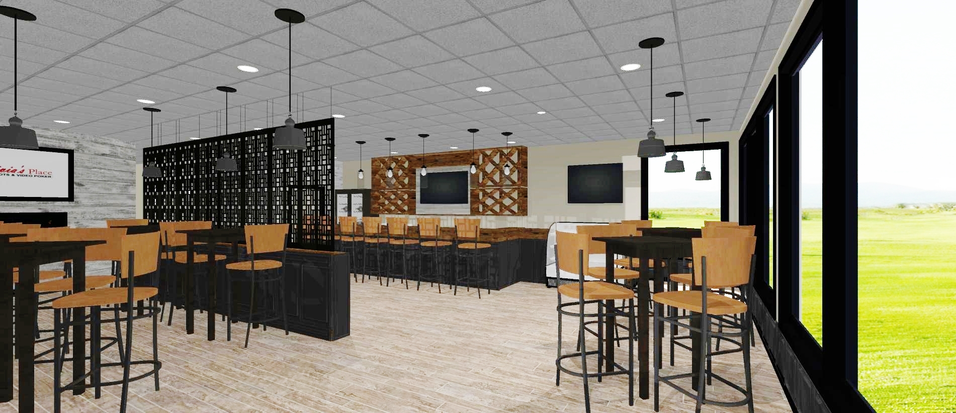 3D rendering restaurant Elk Grove Village, IL
