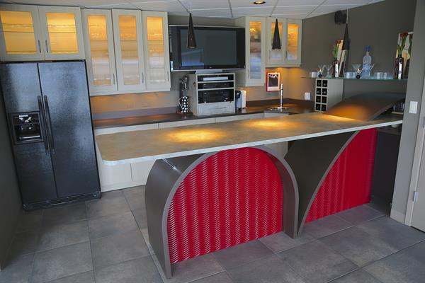 Liquid panels, custom cabinets and surfaces - You dream it - We build it!