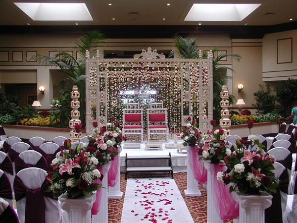 Southeastern Asian Wedding Ceremony in Atrium