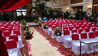 Wedding Ceremony Seating in Atrium