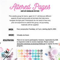 Altered Pages with Fox Valley Hands for Hope