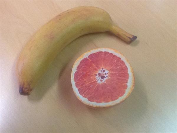 Full color 3D printing, banana & apple
