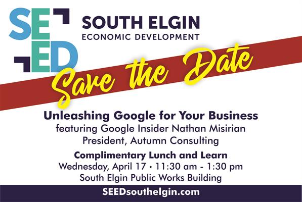 News Release: UNLEASHING GOOGLE FOR YOUR BUSINESS - Elgin