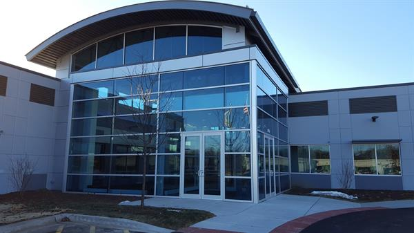 Our front doors face North, away from the interstate, and can be seen from the parking lot entrance on Point Blvd.